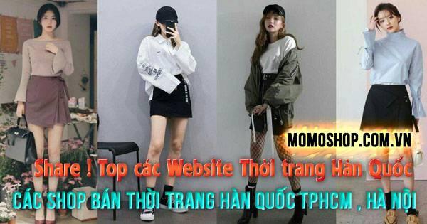 Website Thời trang Hàn Quốc & các shop bán thời trang hàn quốc ở tphcm