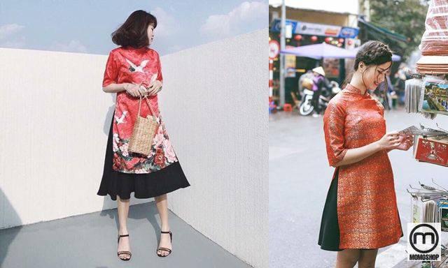 Mix quần giả váy với áo cách tân hiện đại