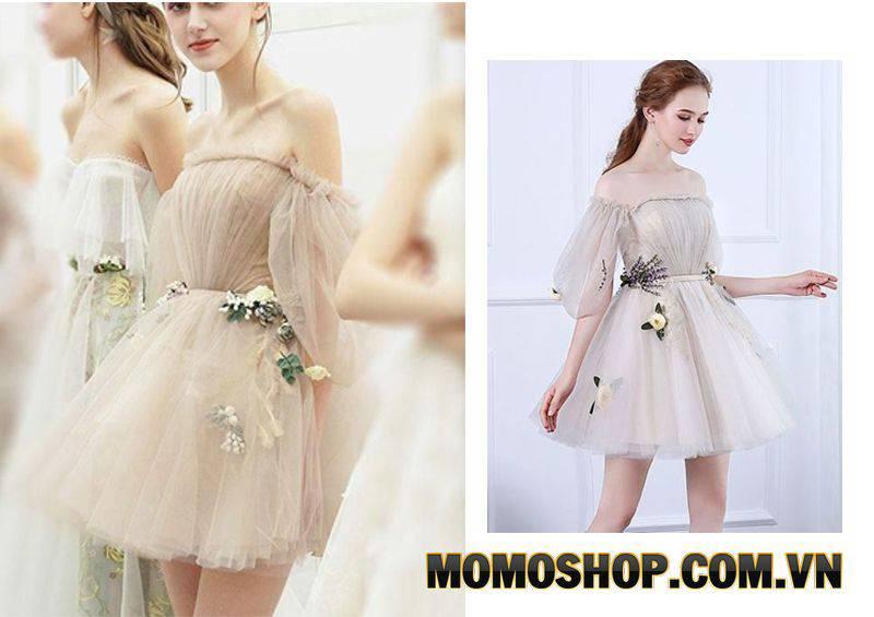 Váy xòe ngắn nữ tính