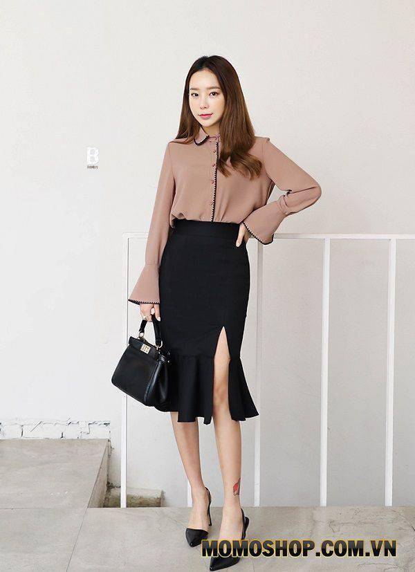 Váy xẻ cao nữ tính