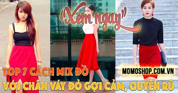 Top 7 cách Mix Đồ Với Chân Váy Đỏ gợi cảm + 5 chân váy đỏ siêu quyến rũ