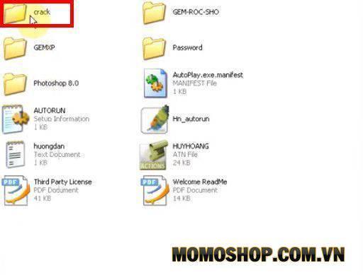 Tại folder giải nén có folder ⇒ mở thư mục