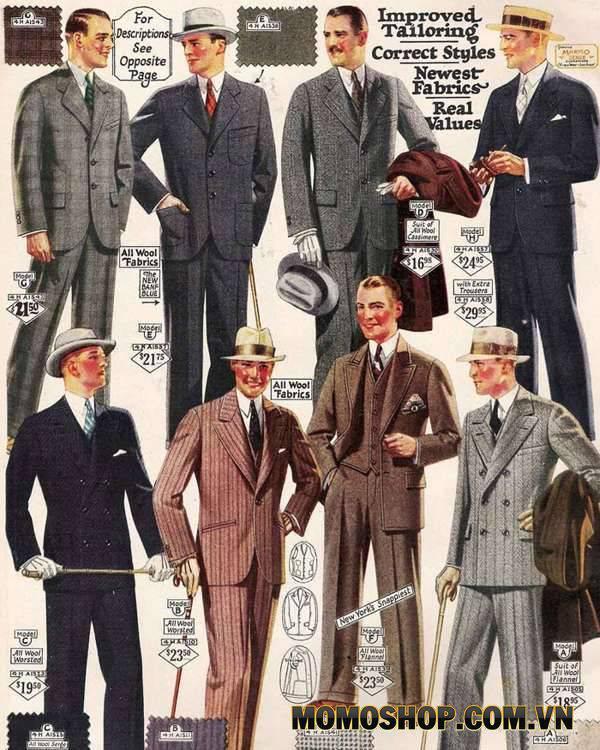 nam theo phong cách vintage từ những năm 1920-1929