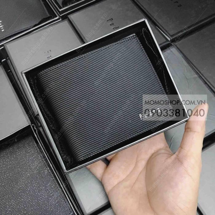 Ví nam ngắn Pedro thời trang bn699 đen mẫu ví cầm tay nam