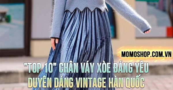 """""""TOP 10"""" Chân Váy Xòe đáng yêu duyên dáng vintage Hàn Quốc"""
