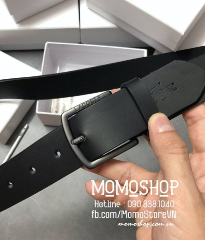 Thắt lưng nam thời trang Lacoste dn361 đen
