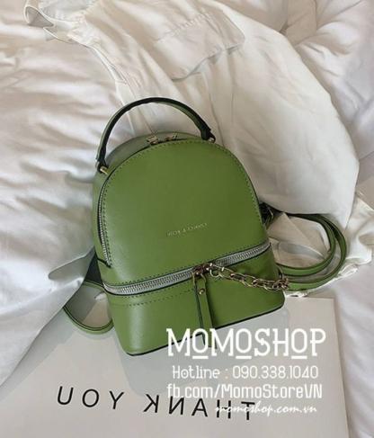 Balo mini nữ xinh Hàn Quốc giá tốt mini200 xanh lá