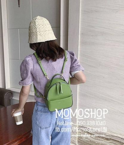 Balo nữ mini thời trang mini189 xanh lá