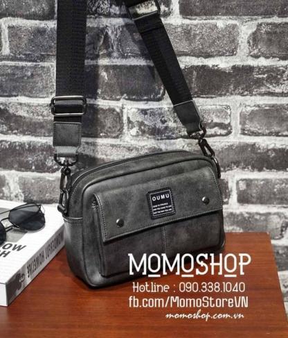 Túi đeo chéo da Hàn Quốc bn718 đen