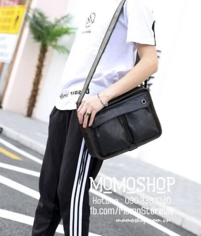Túi đeo chéo da đẹp thời trang bn717 đen