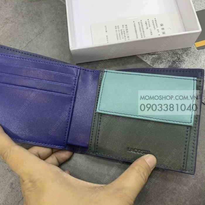 Ví nam xịn Lacotes hàng hiệu bn721 xanh mẫu ví cầm tay nam đẹp