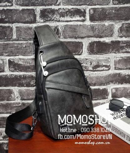 Túi đeo chéo nam thời trang bn410 đen