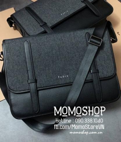 Túi laptop đeo chéo Pedro thời trang bn724 đen