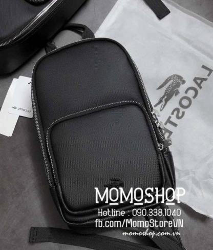 Túi đeo chéo Lacoste màu đen bn728