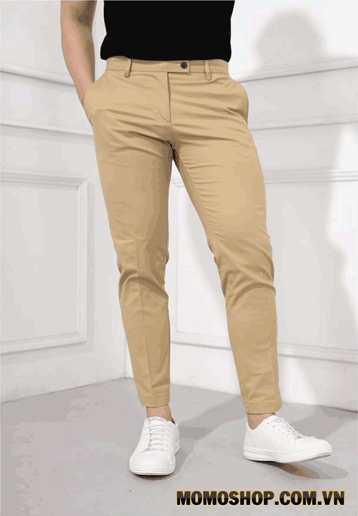 Cách chọn size quần kaki cho nam giới cùng kết hợp với dây nịt nam thời trang
