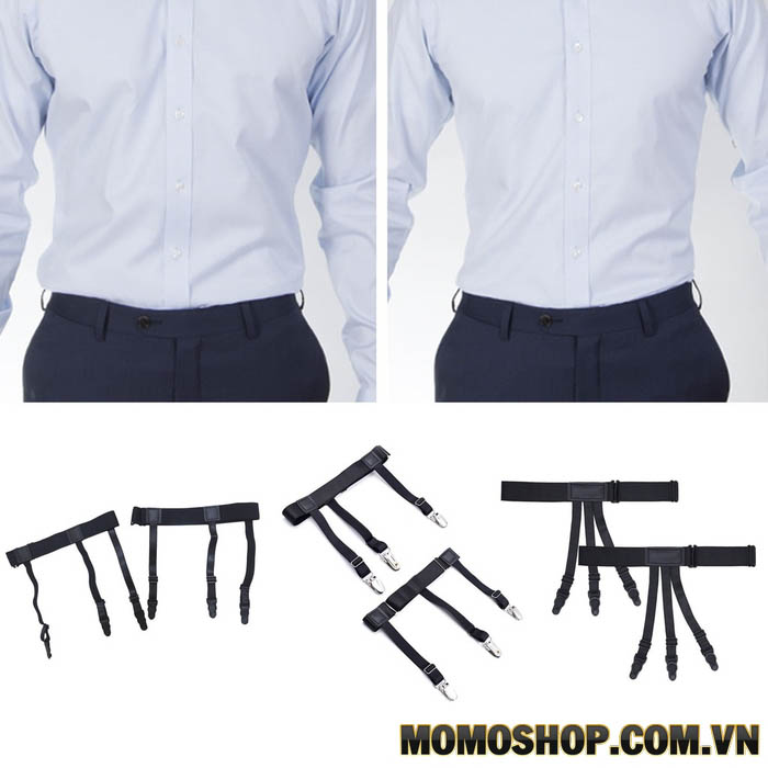 Kiểu 2 đai nịt thắt lưng nam giữ áo sơ mi