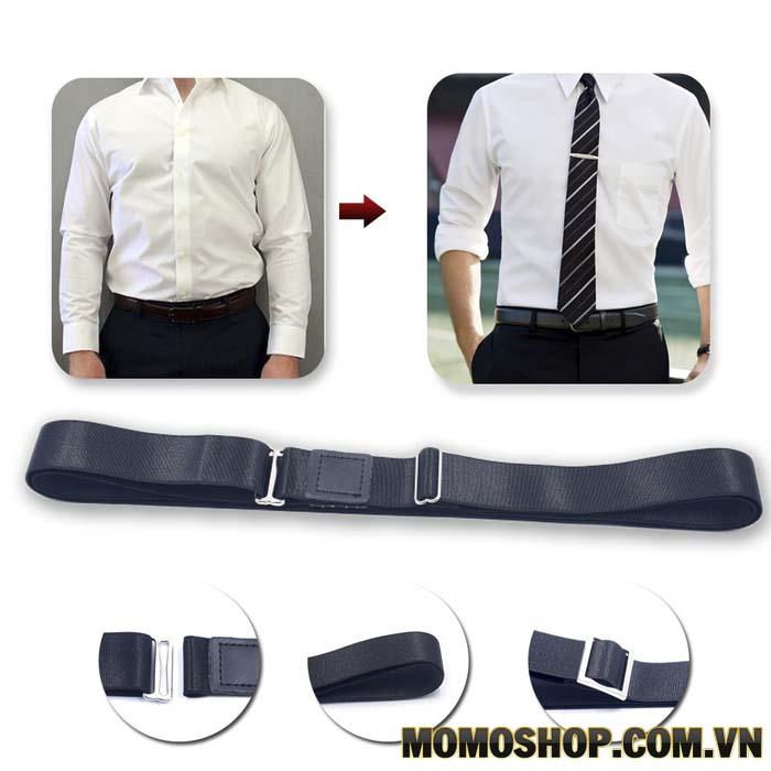 Kiểu 1 đai nịt thắt lưng nam giữ áo sơ mi