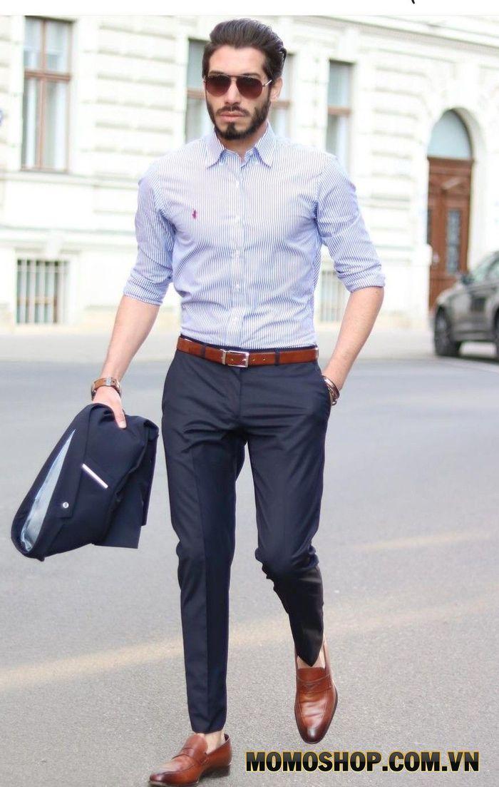 Kích thước thắt lưng phù hợp khi mặc với quần tây