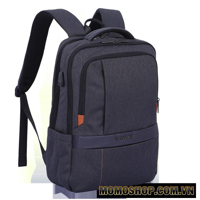 Balo laptop chống sốc Sakos Carbon thiết kế mềm mại nhiều chức năng