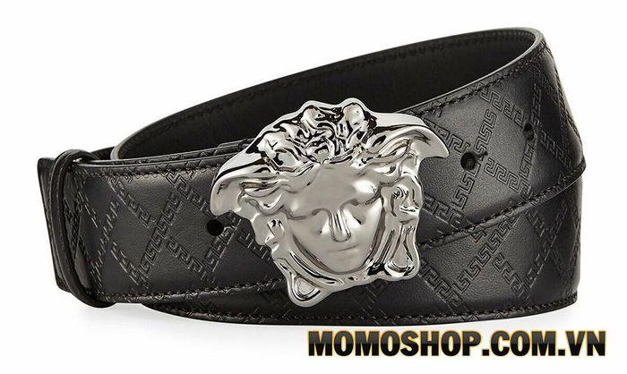 Thắt lưng nam Versace Men's Embossed Leather Medusa-Buckle Belt