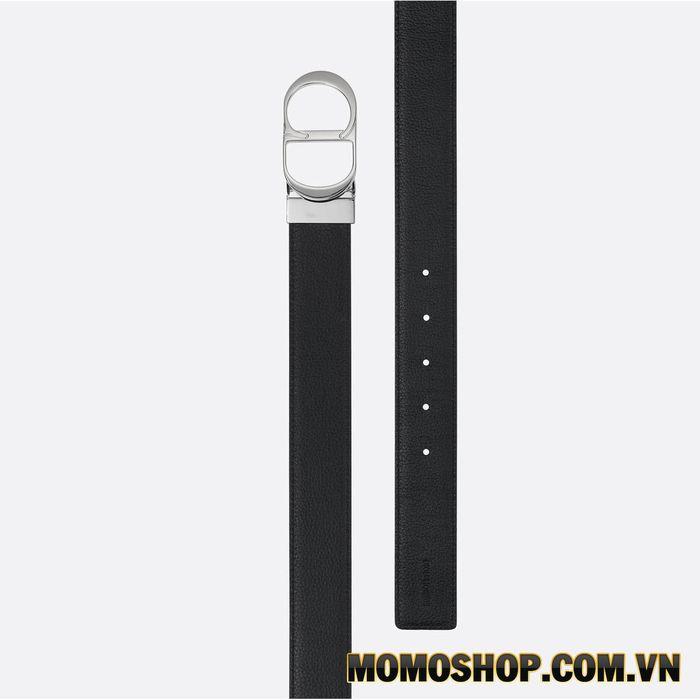Thắt lưng nam Dior CD Black & Blue Calfskin Belt