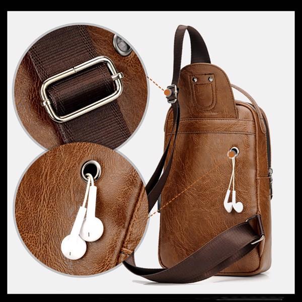Túi đeo chéo mini thông minh, chỗ gắn sạc tai nghe tiện lợi