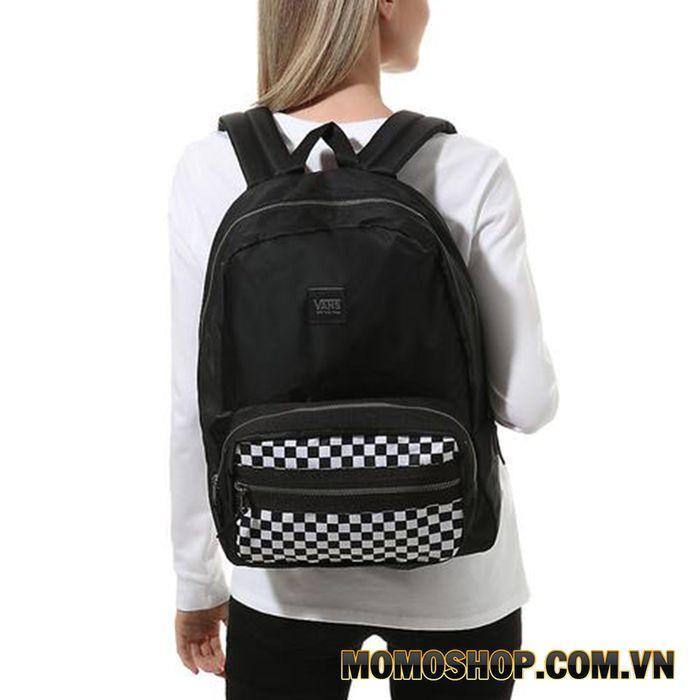 Balo học sinh Vans Distinction Checker Black