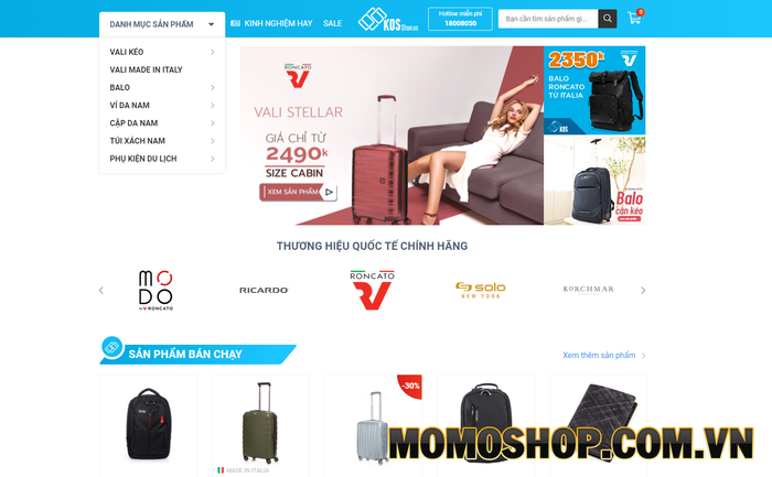Kosshop - Chuyên cung cấp các sản phẩm như vali, túi đựng laptop hay túi chống sốc
