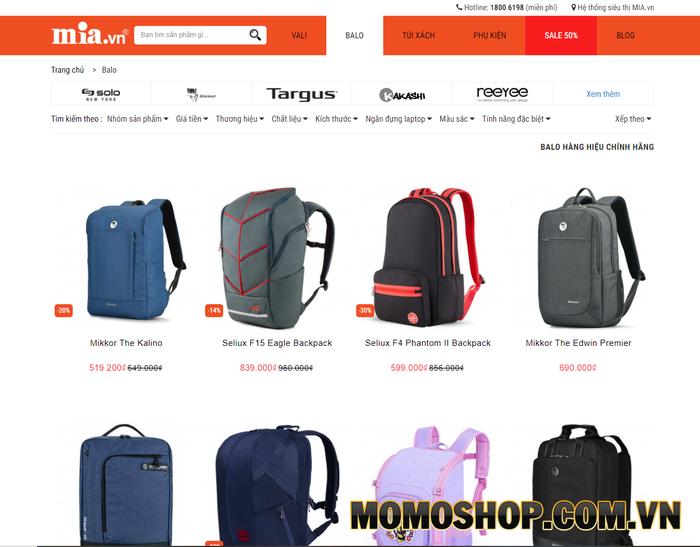 MIA.vn - Hệ thống vali, balo, phụ kiện du lịch