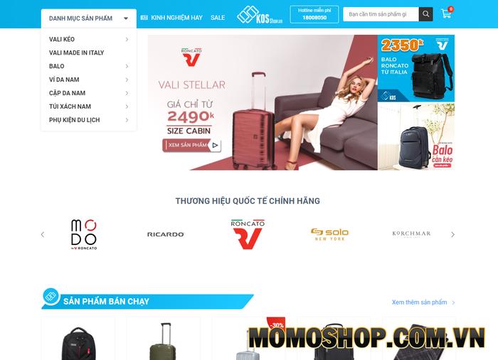 Kos Shop - Chuyên cung cấp vali, balo, túi chống sốc laptop