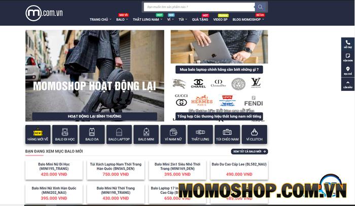 Momoshop - Nhận được sự tin tưởng và yêu thích lớn từ người dùng