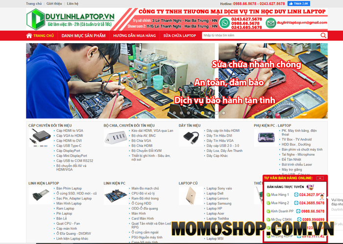 Duy Linh Laptop - Chuyên cung cấp và bán lẻ các thiết bị, phụ kiện máy tính