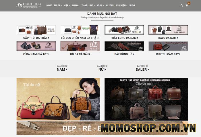 Captuida Shop - Địa chỉ tin cậy, uy tín và là điểm đến của các bạn nam yêu thích túi xách nam tại Hà Nội