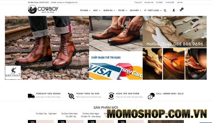 Cowboy - Nơi bán túi đeo chéo da nam với giá ưu đãi