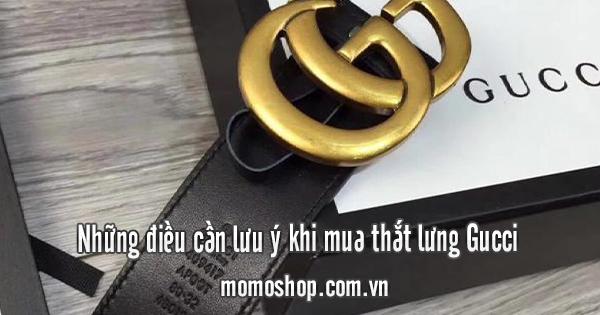 Những điều cần lưu ý khi mua thắt lưng Gucci