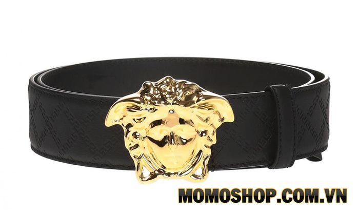Thắt lưng nam Medusa-Buckle da nổi của Versace