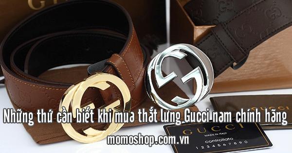 Những thứ cần biết khi mua thắt lưng Gucci nam chính hãng