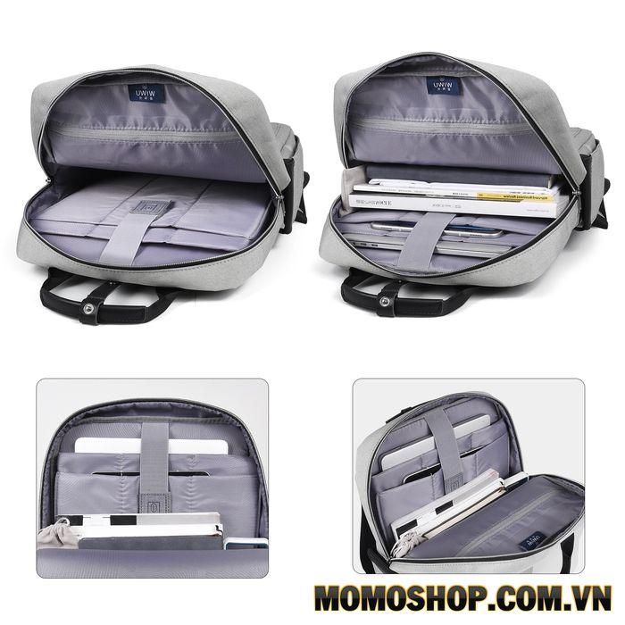 Balo laptop 15 inch giá rẻ Wiwu Grey B035