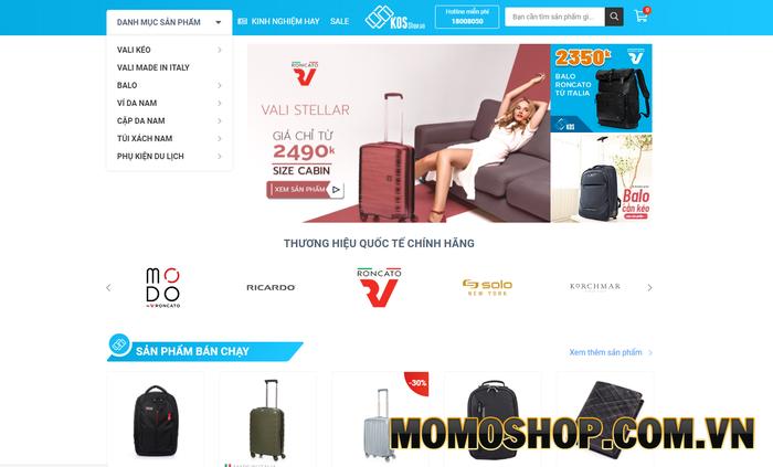 KOS shop - Nơi cung cấp những chiếc balo laptop đáng mơ ước