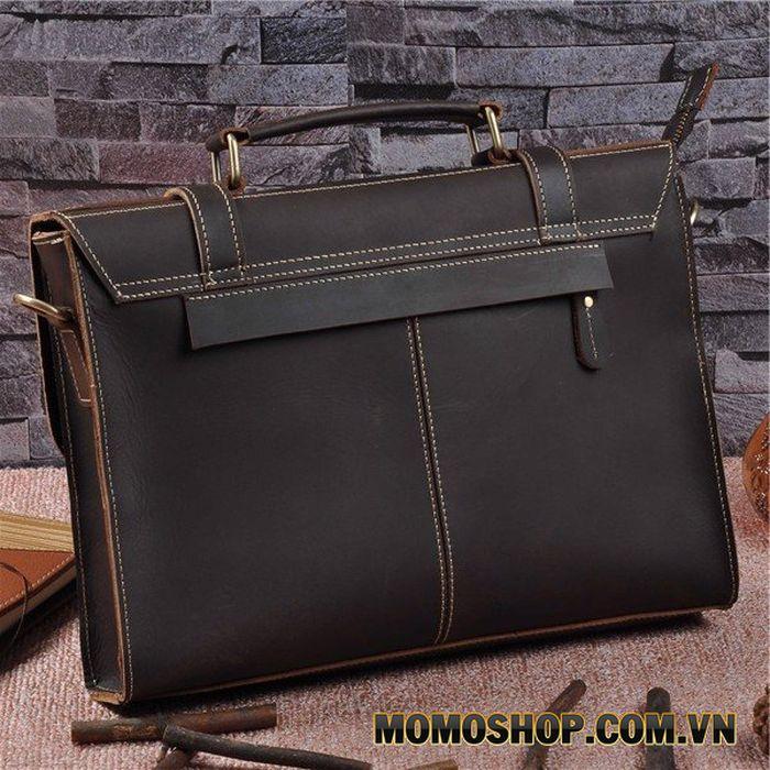 Túi đeo chéo 13 inch da bò sáp dạng mỏng
