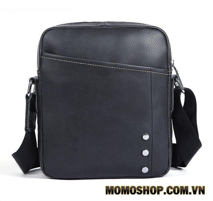 Túi đeo chéo nam da bò thật dáng dọc nhiều ngăn - TM48