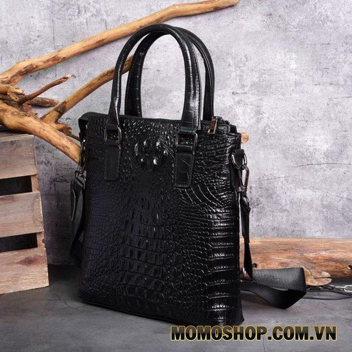 Túi đeo chéo, xách tay da bò vân cá sấu