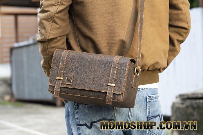 Túi đeo chéo đựng máy ảnh da bò handmade