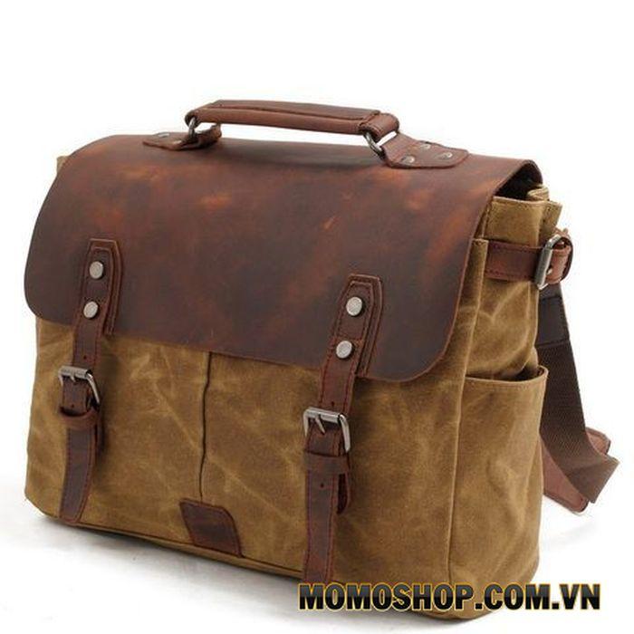 Túi đeo chéo đựng máy ảnh Caravan da bò thật chống thấm nước