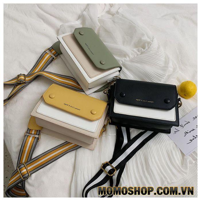 Túi đeo chéo dây đeo bản to phong cách Hàn Quốc
