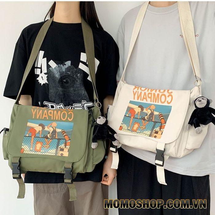 Túi đeo chéo dây đeo bản to Junior Company thời trang Hàn Quốc