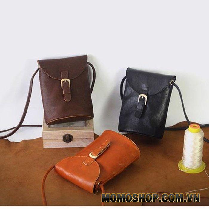 Túi đeo chéo nữ mini da bò cổ điển cao cấp - 2091389