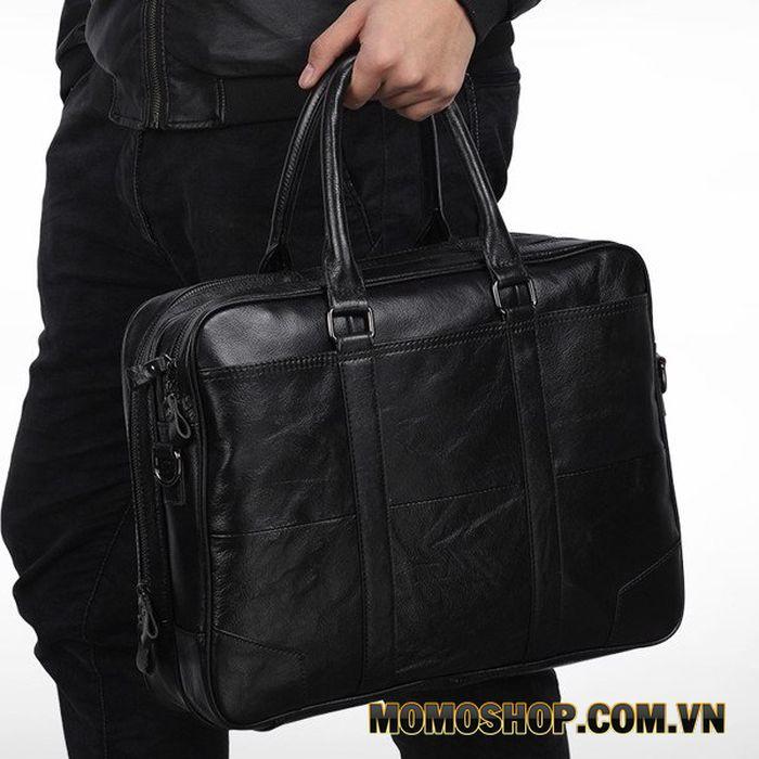 Túi laptop da, túi đeo chéo nam đựng laptop 15.6 inch