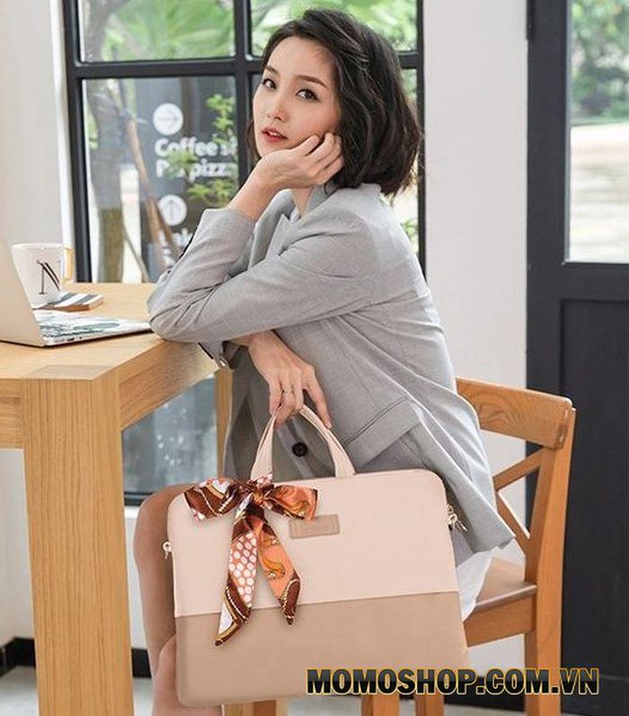 Túi laptop nữ Kamlui KM034 - Mẫu túi không bao giờ lỗi mốt