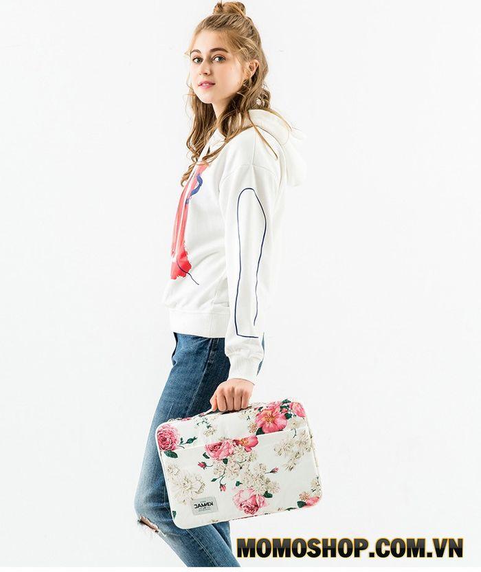 Túi laptop nữ KinMac hoa mẫu đơn - Thời trang nổi bật, đột phá trong thiết kế